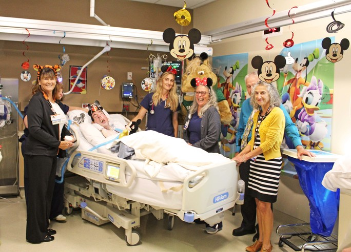French Hospital Staff at a Disney Theme birthday party they threw for patient