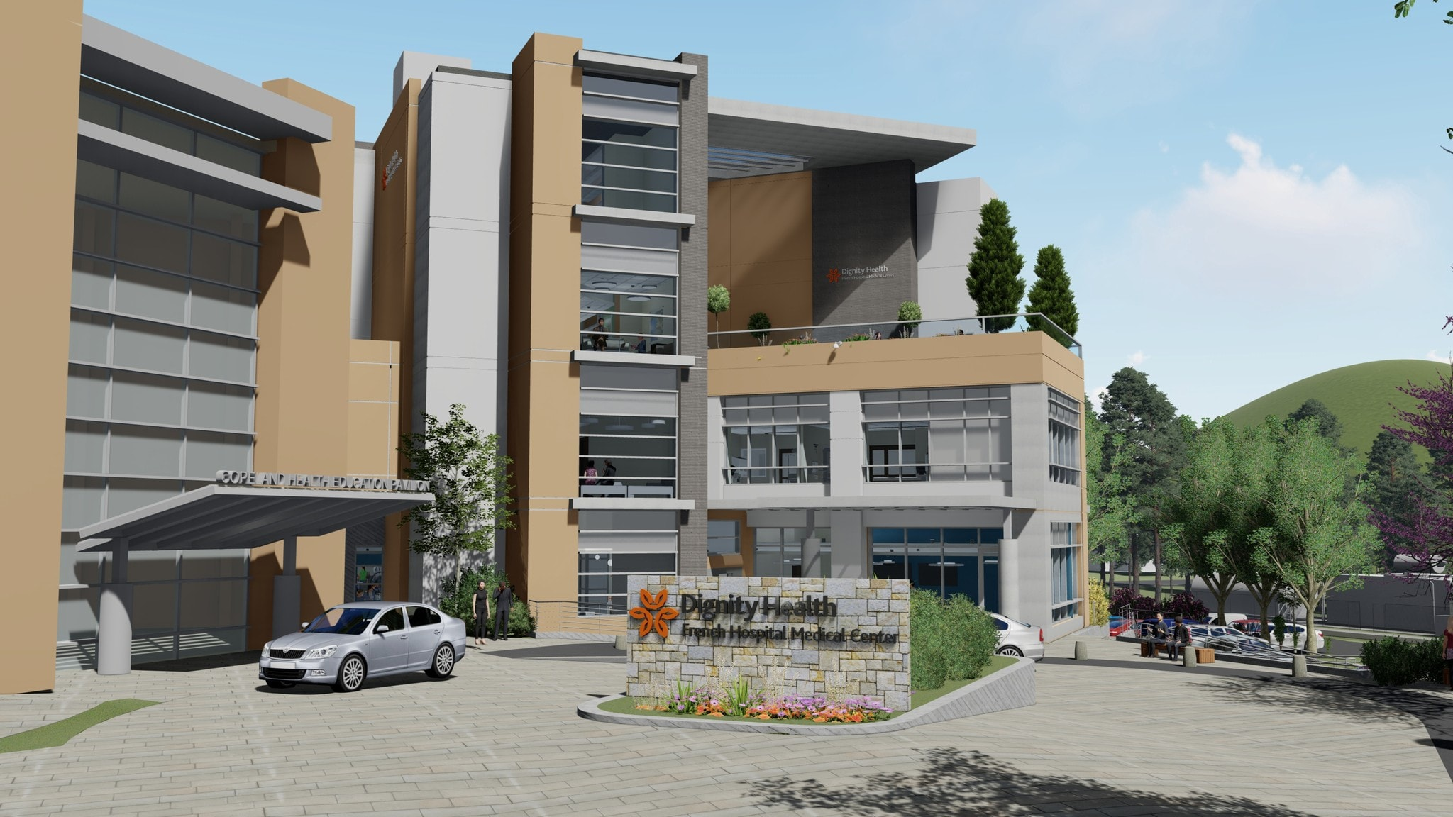 Your New French Hospital rendering